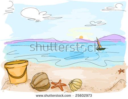 Beach Doodle Vector Stock Vector 25602973.