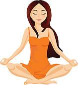 Meditation Clip Art.