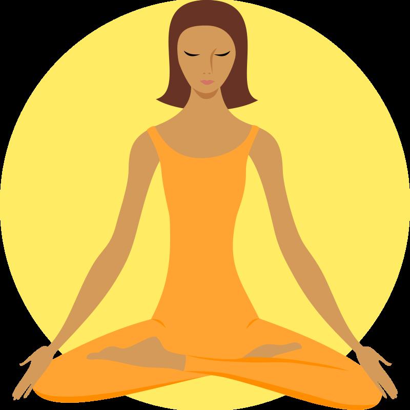 Meditation Silhouette Clipart.