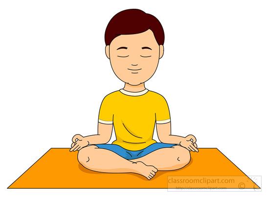 Kids Meditation Clipart.