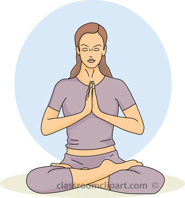 Meditation Clipart Page 1.