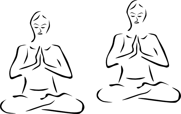 Meditating person clipart.