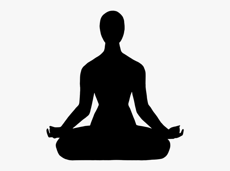 Meditating Man Silhouette Png , Free Transparent Clipart.