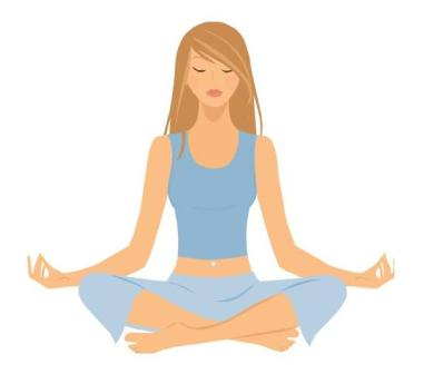 Person Meditating Clipart Free.