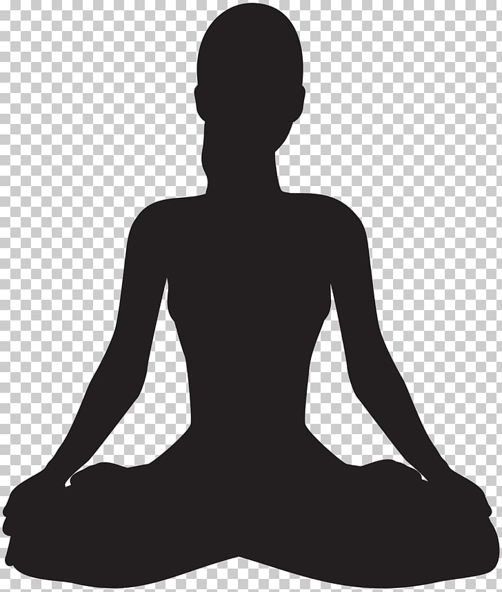 Meditation Silhouette , Meditating Silhouette , silhouette.
