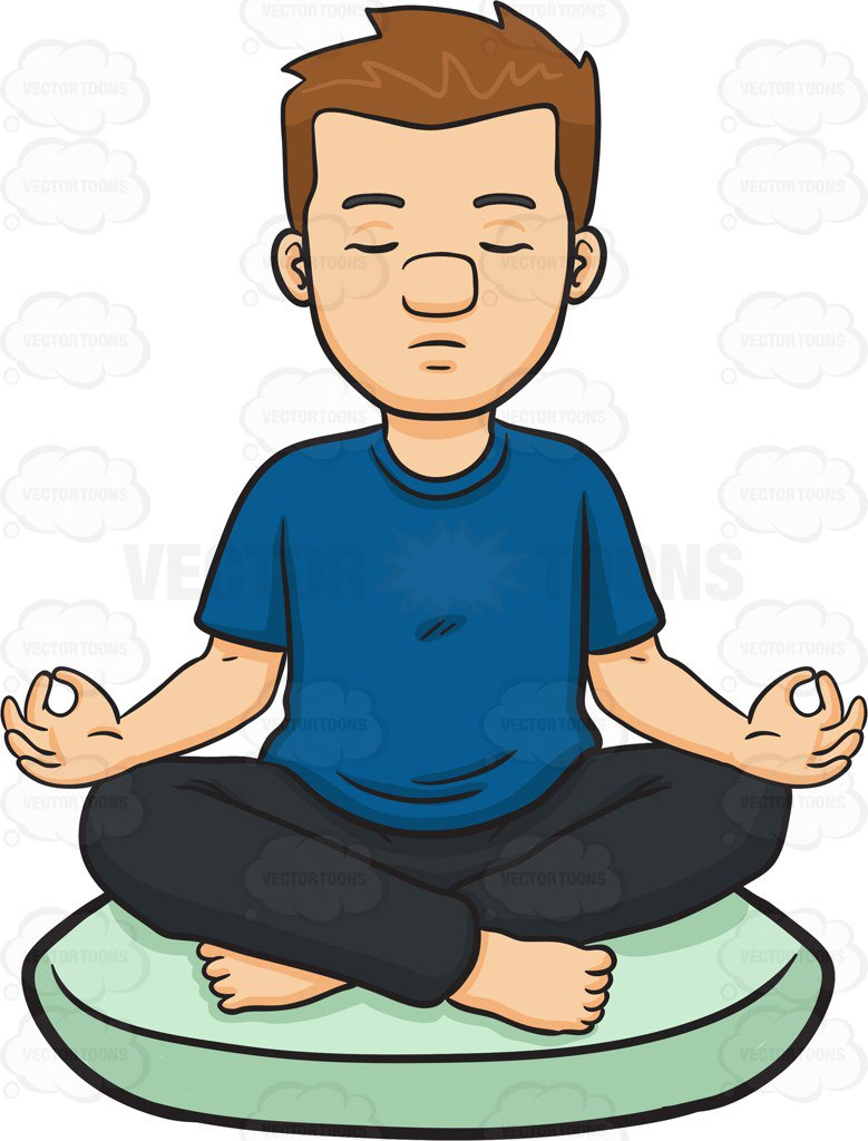 Person Meditating Clipart.