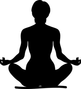 Someone Meditating Clipart.