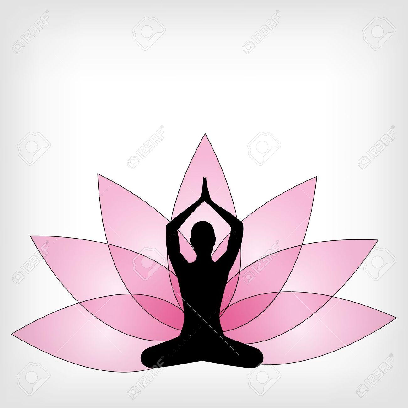 Meditation yoga clipart.