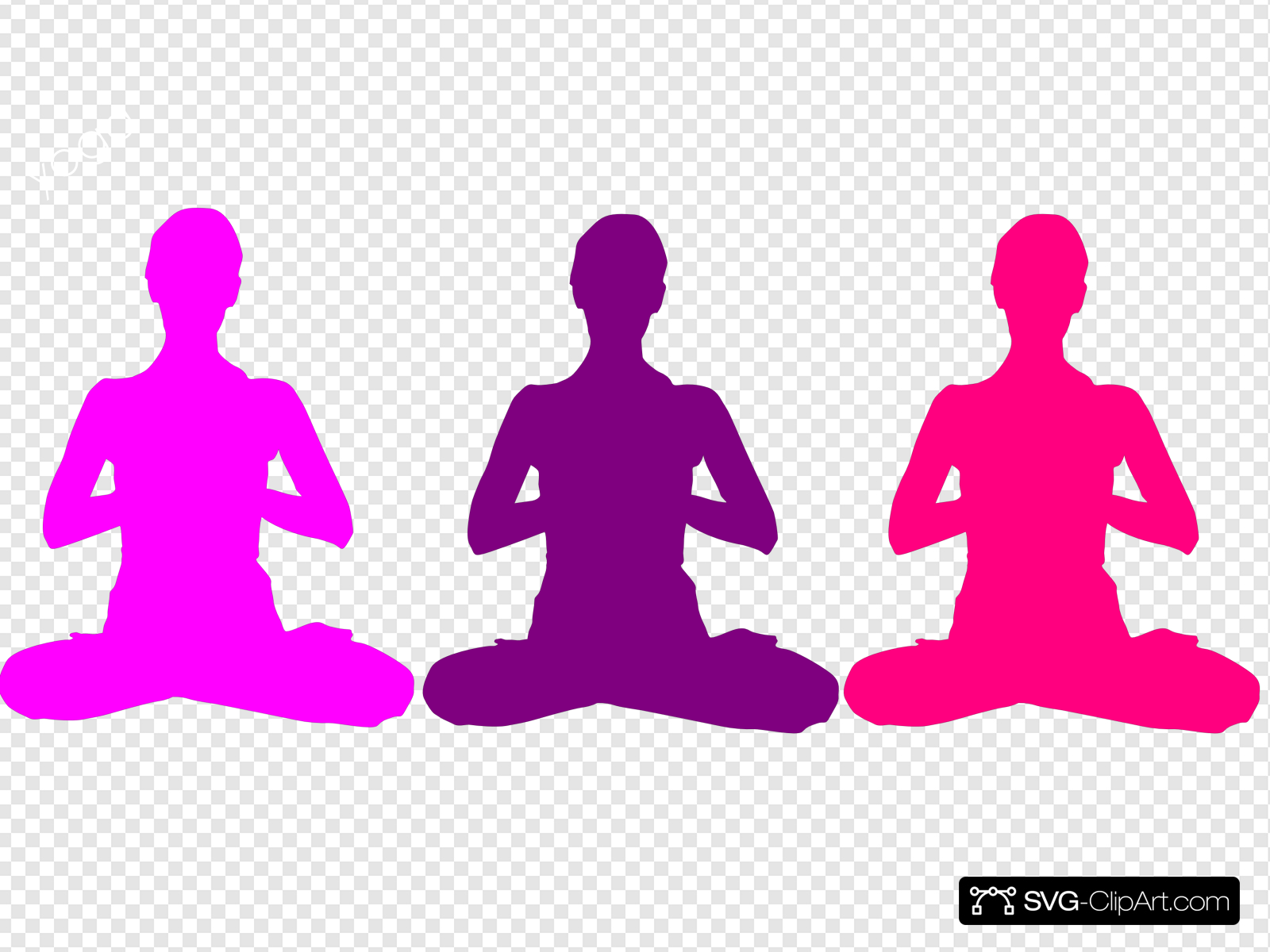Meditation Position Clip art, Icon and SVG.