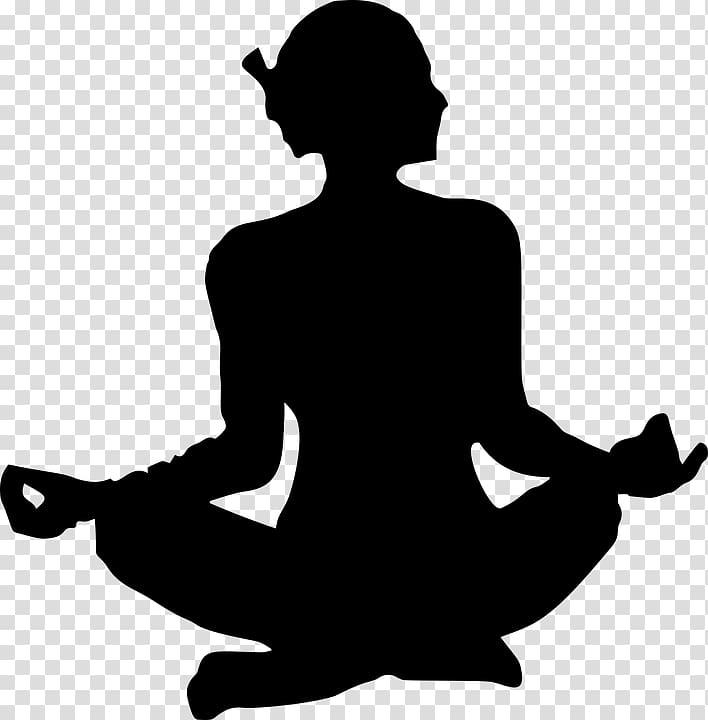 Yoga Lotus position Silhouette Asento , meditation.