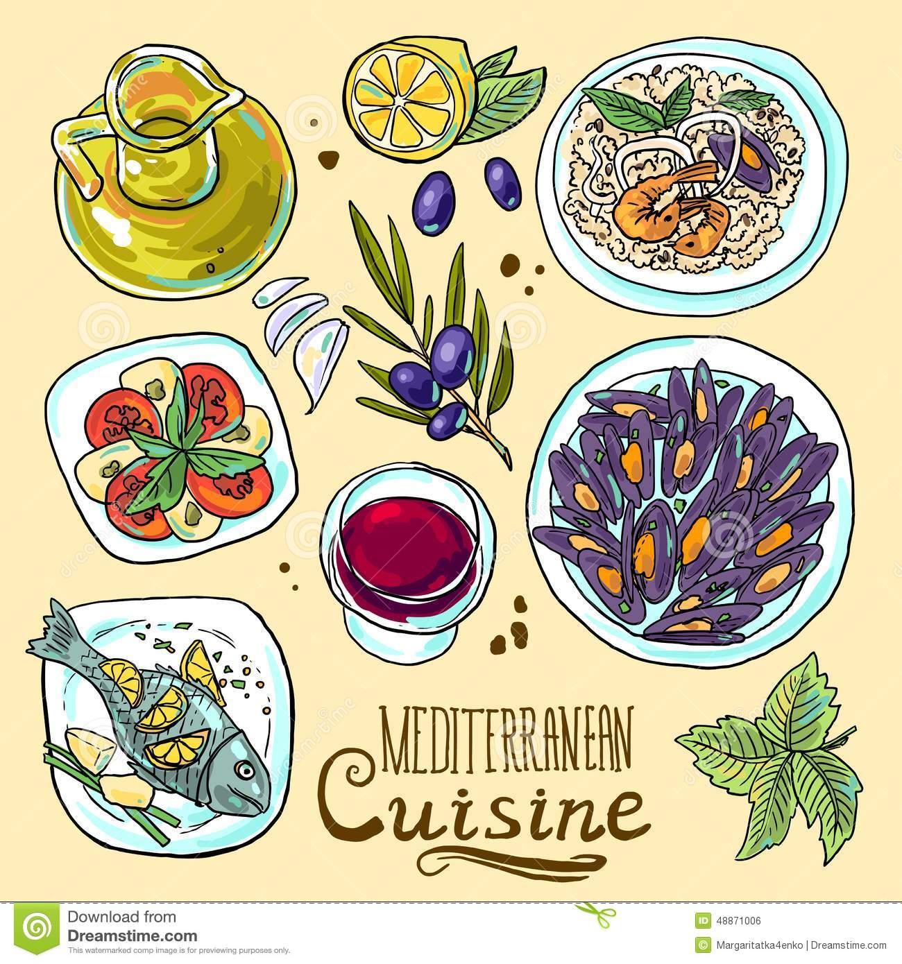 Mediterranean Diet Clip Art.