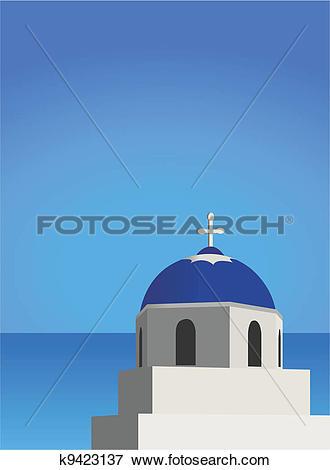 Clip Art of Mediterranean Architecture k9423137.
