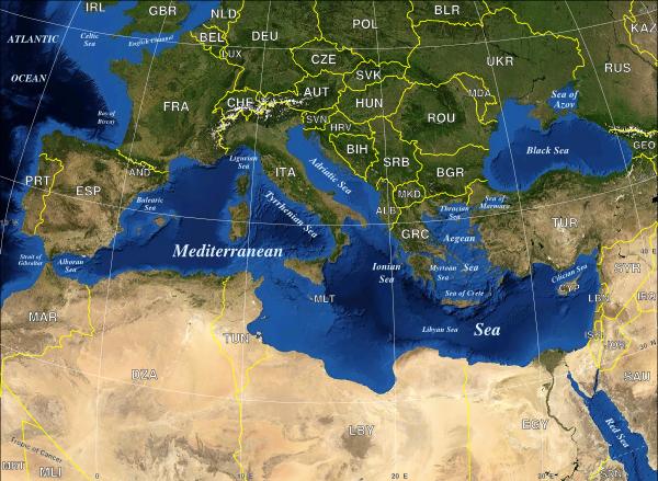 Mediterranean Sea Political Map Clip Art at Clker.com.