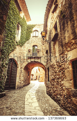 Mediterranean Village Stock Images, Royalty.