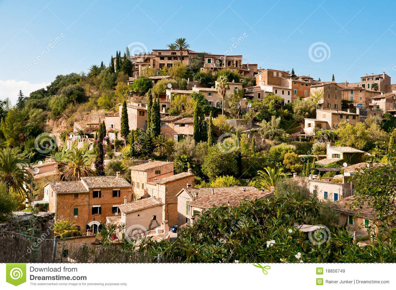 Mediterranean Village Royalty Free Stock Images.