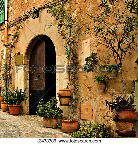Stock Images of old mediterranean village k3478786.