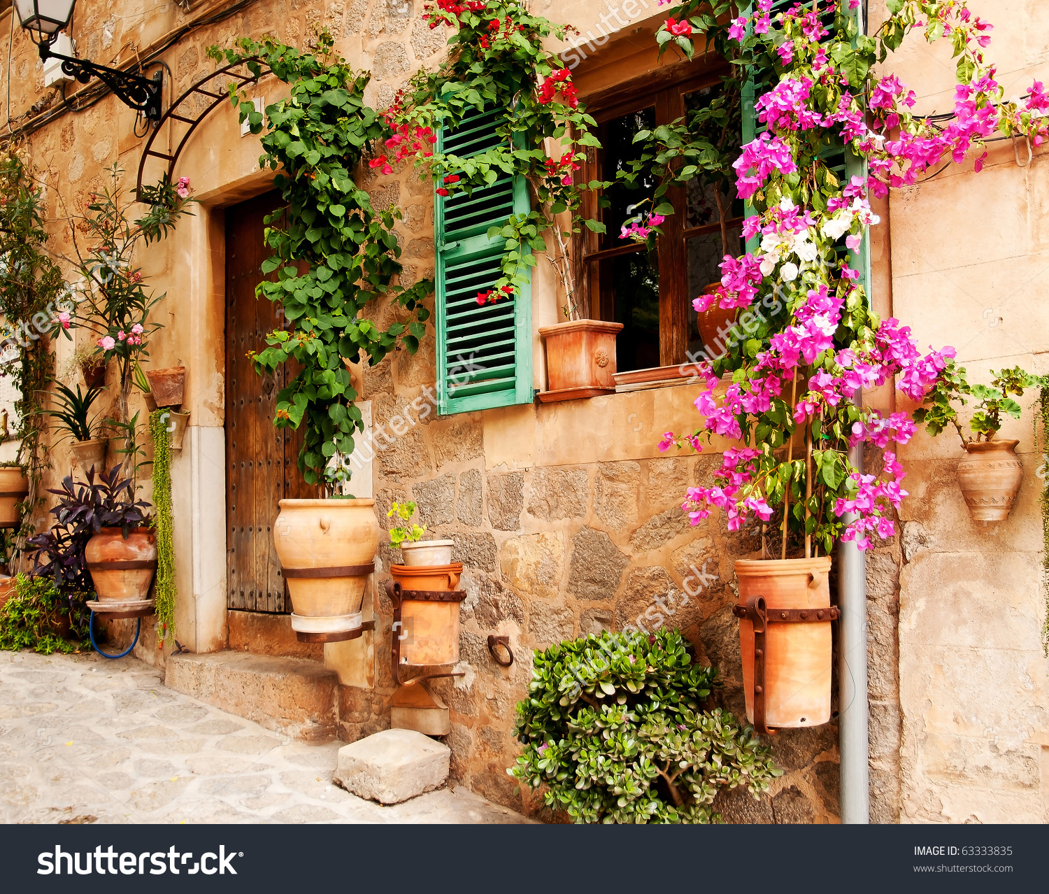 Mediterranean Village Stock Photo 63333835.
