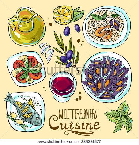 Mediterranean Food Stock Vectors, Images & Vector Art.