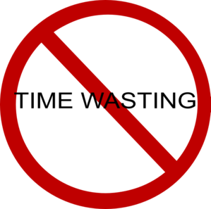 No Time Wasting Clip Art at Clker.com.