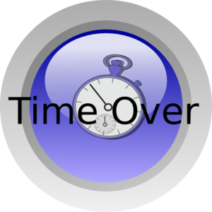 Time Over Clip art.