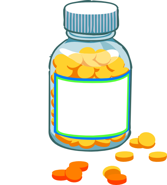 Medication Bottles Clipart.
