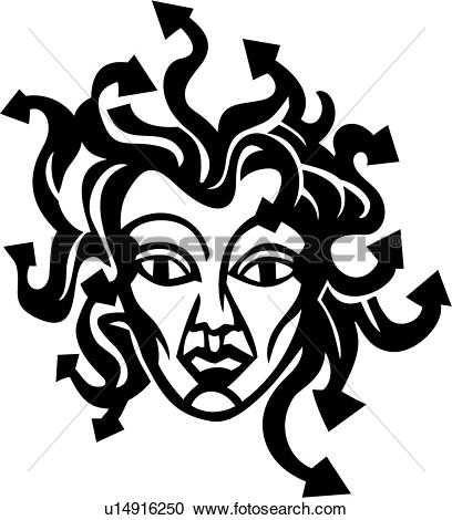 Clipart of , medusa, mythical, roman, myth, mythological.
