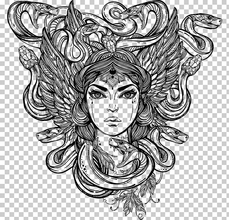 Medusa Decal Bumper sticker Greek mythology, others PNG.