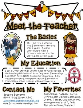 CUSTOM Meet the Teacher Flyer.