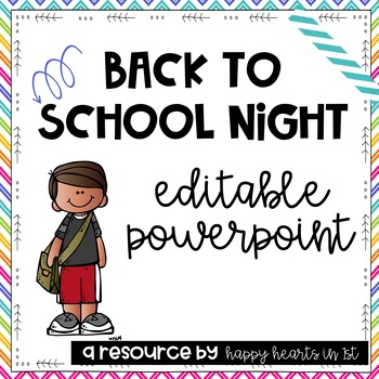 Meet the Teacher/ Back to School Night Editable PowerPoint.