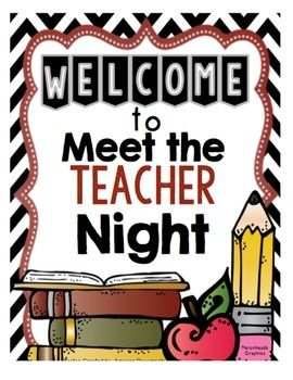 Meet the Teacher Night Poster.