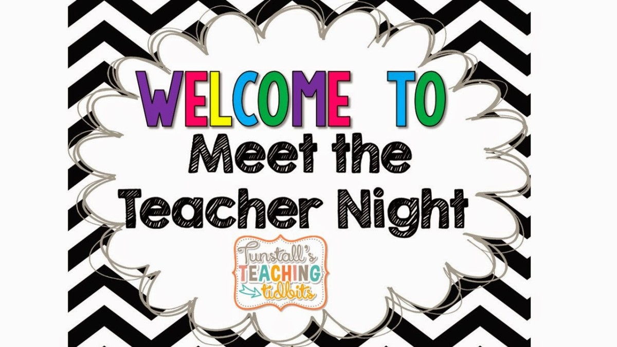 Meet the Teacher Night Signs.