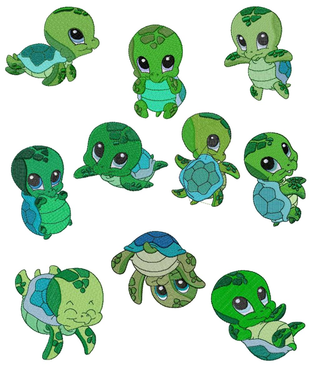 Cute Baby Turtle Clipart.