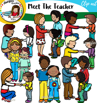 Meet The Teacher Clip Art Set.