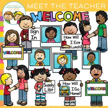 Meet the Teacher Clip Art by Whimsy Clips.