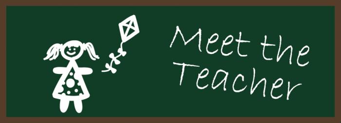 Meet Your Teacher Clipart.