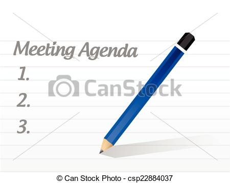 meeting agenda illustration design.