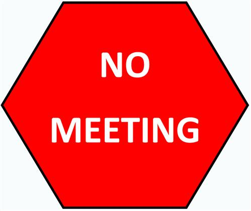 No Meeting Clipart.