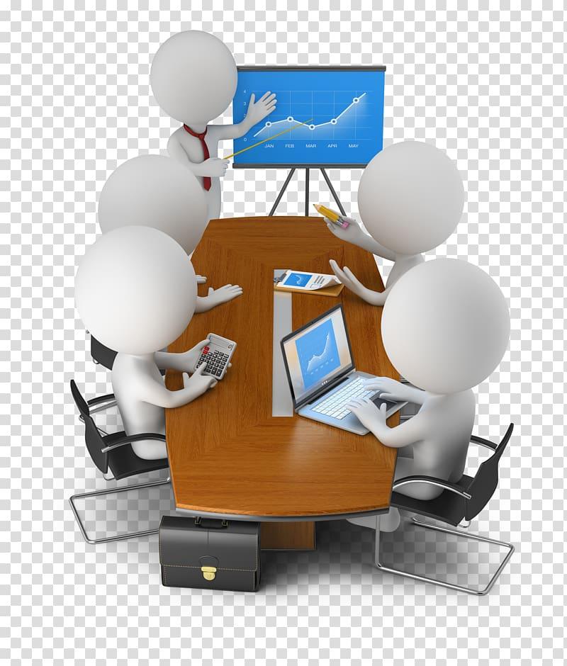 3D computer graphics Businessperson Meeting, Office meeting.