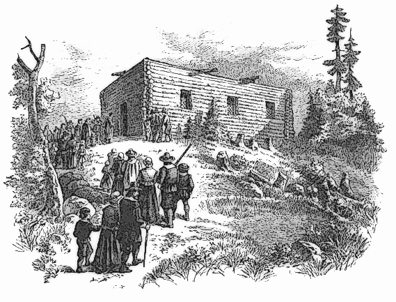Pilgrim Fort And Meeting House Clip Art Download.