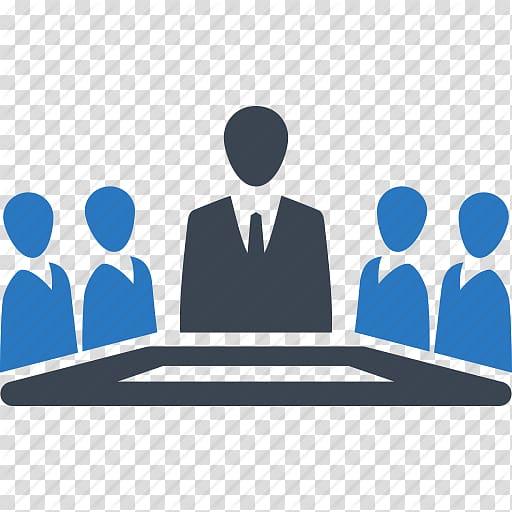 Five person illustrations, Senior management Business.