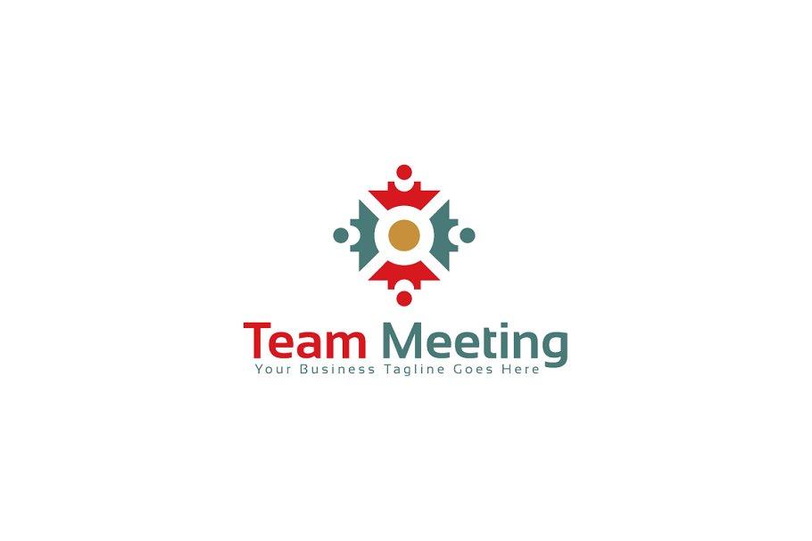 Team Meeting Logo Template.