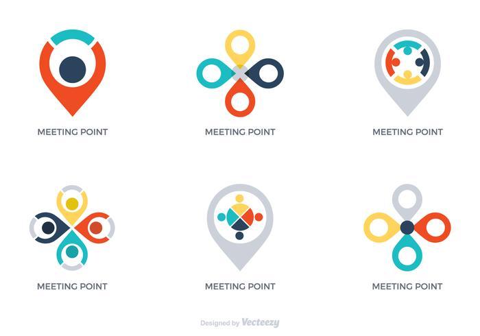 Vector Meeting Point Logos.