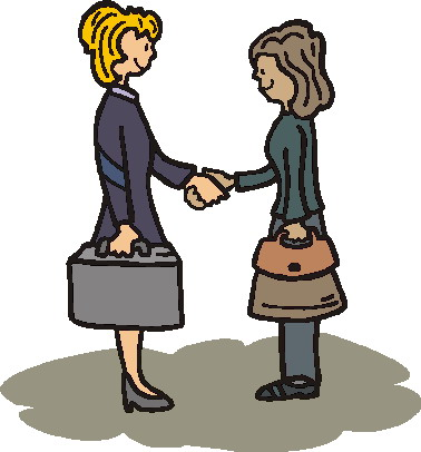 Meeting New People Clipart.