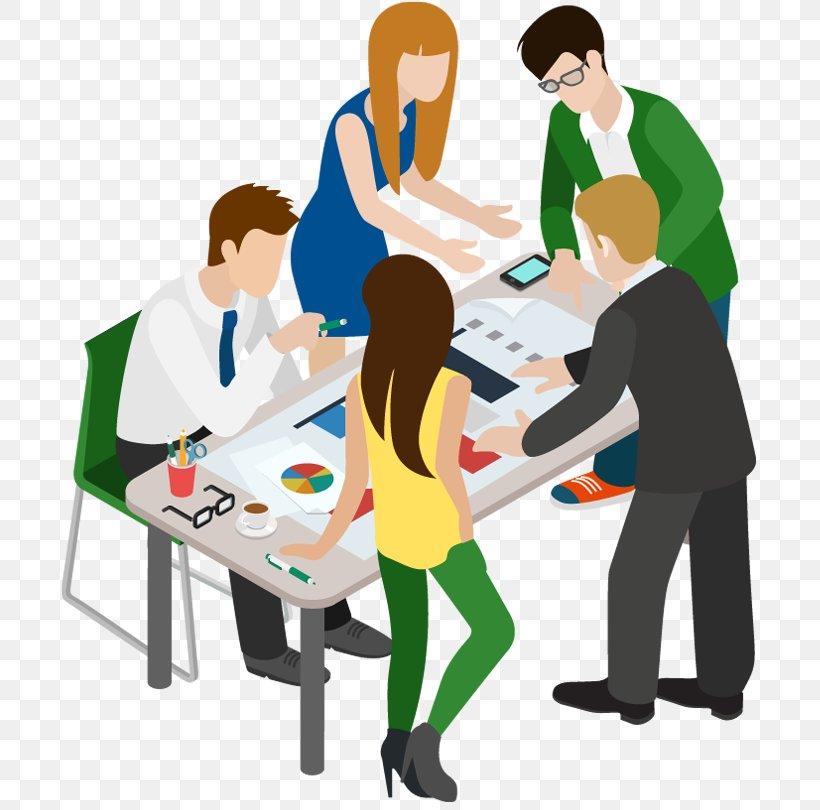 Meeting Cartoon Businessperson Clip Art, PNG, 700x810px.