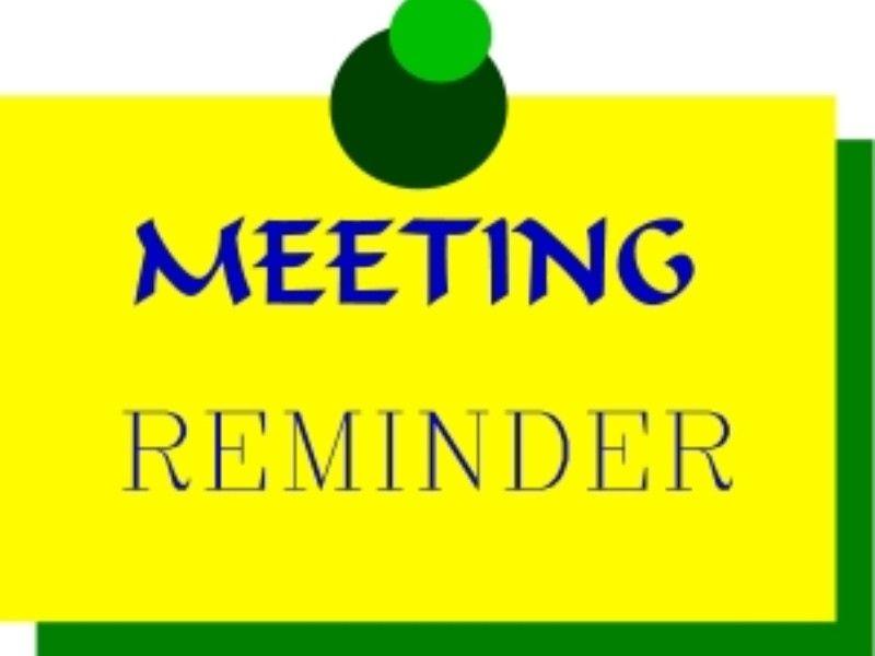 Meeting Reminder.