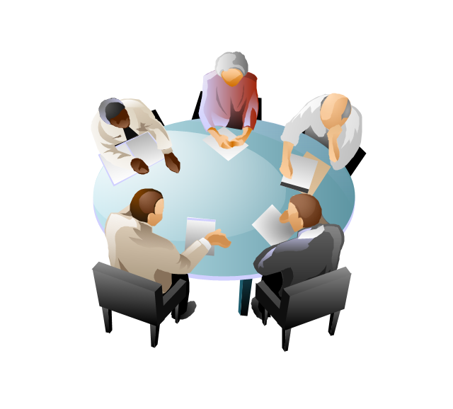 Meeting table clipart 2 people.
