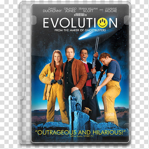 Movie Icon Mega , Evolution, Evolution DVD case transparent.