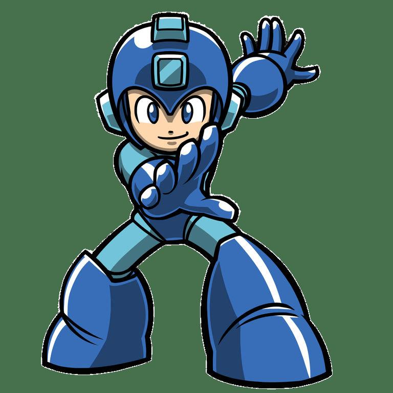 Mega Man Holding Out Hand transparent PNG.