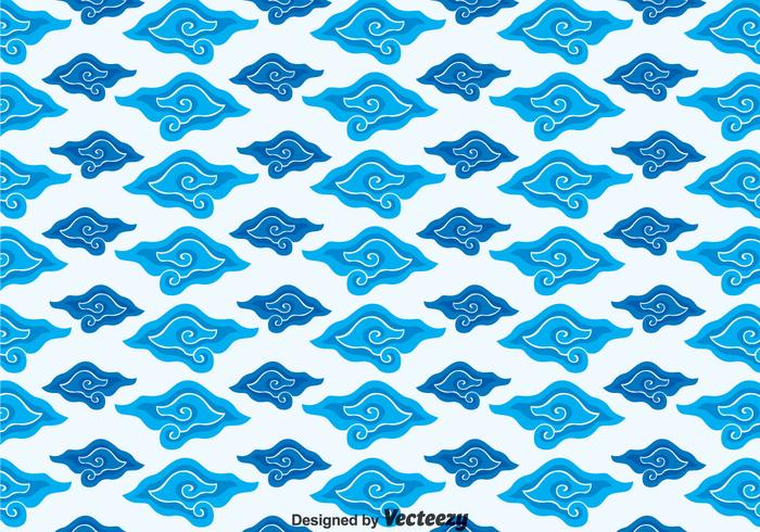 Megamendung Batik Background Vector.