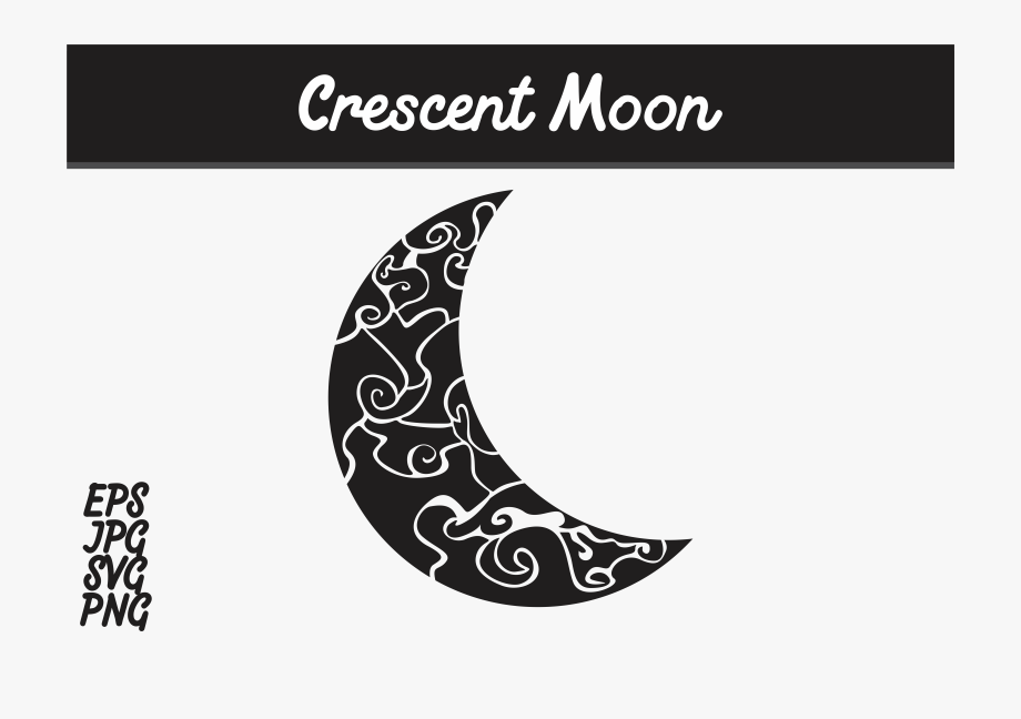 Crescent Moon Svg Vector Image Graphic By Arief Sapta.